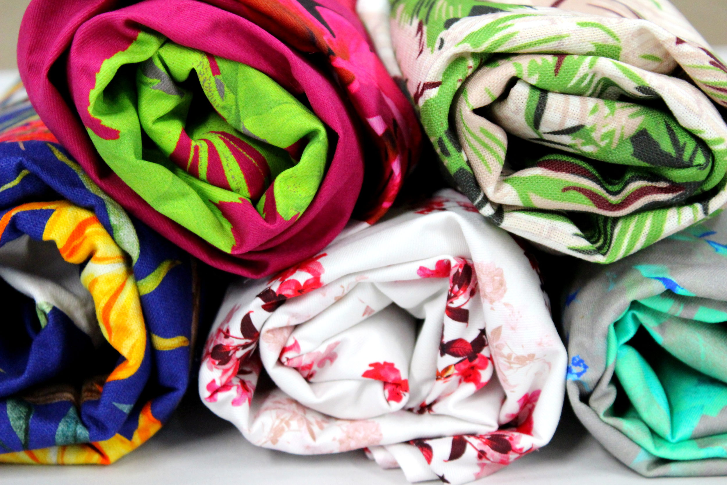 Digital fabric printing on most types of fabric