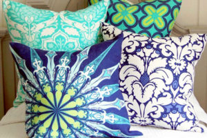 Custom printed patterned cushions
