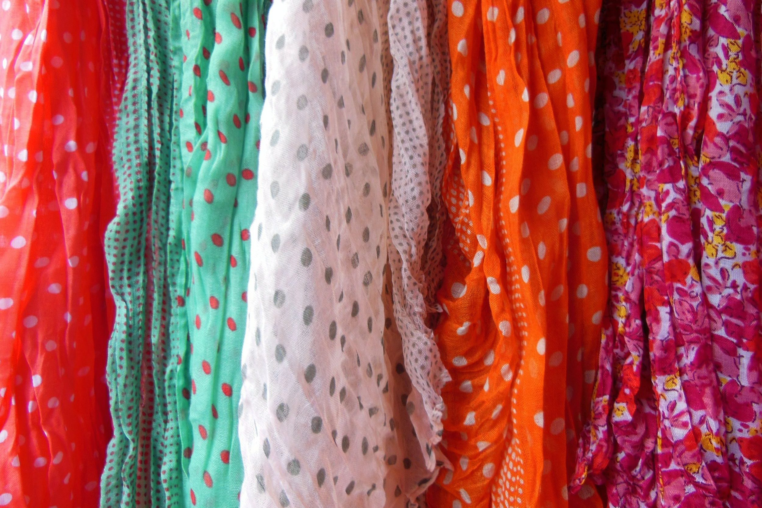 Digital fabric printing allows you to create beautiful, original scarves