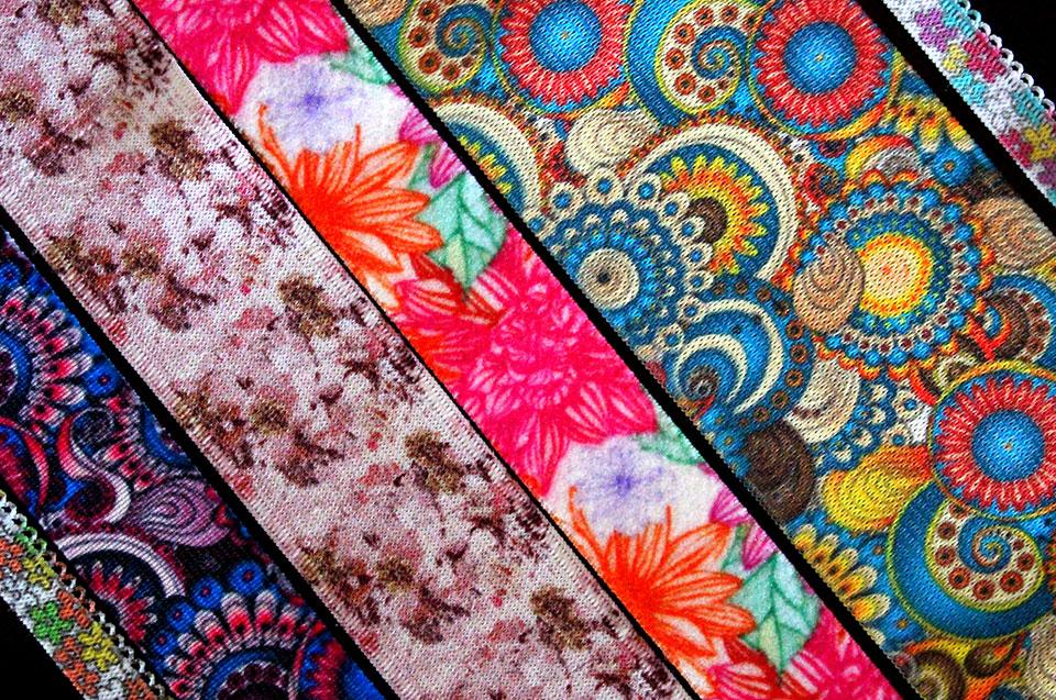 Printed narrow fabrics and trims