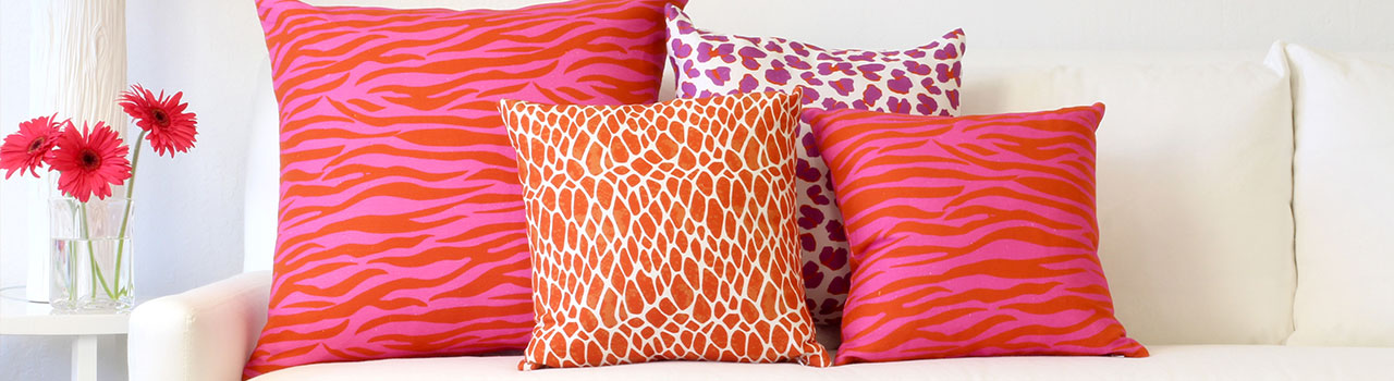 home decor printed cushions pink