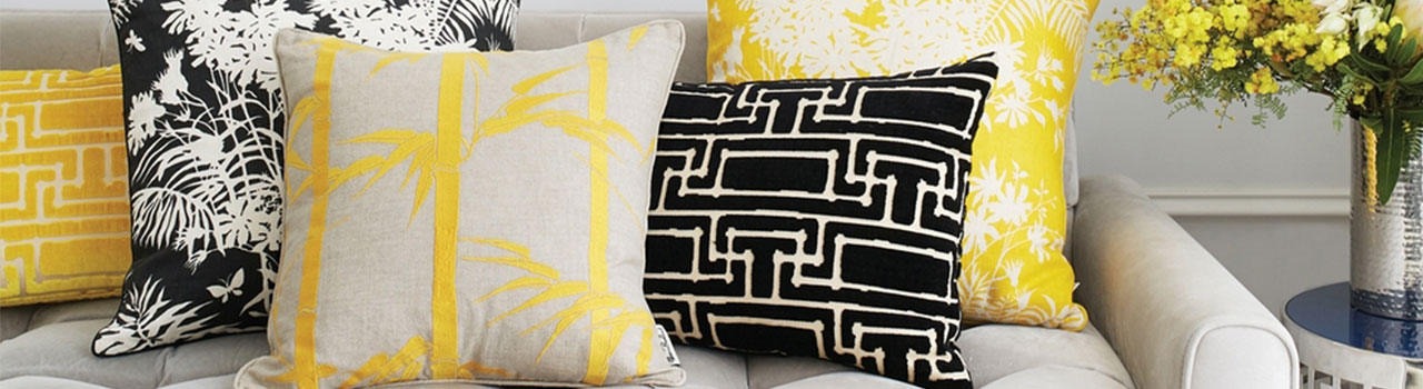 Design your own cushions using digitally printed fabric