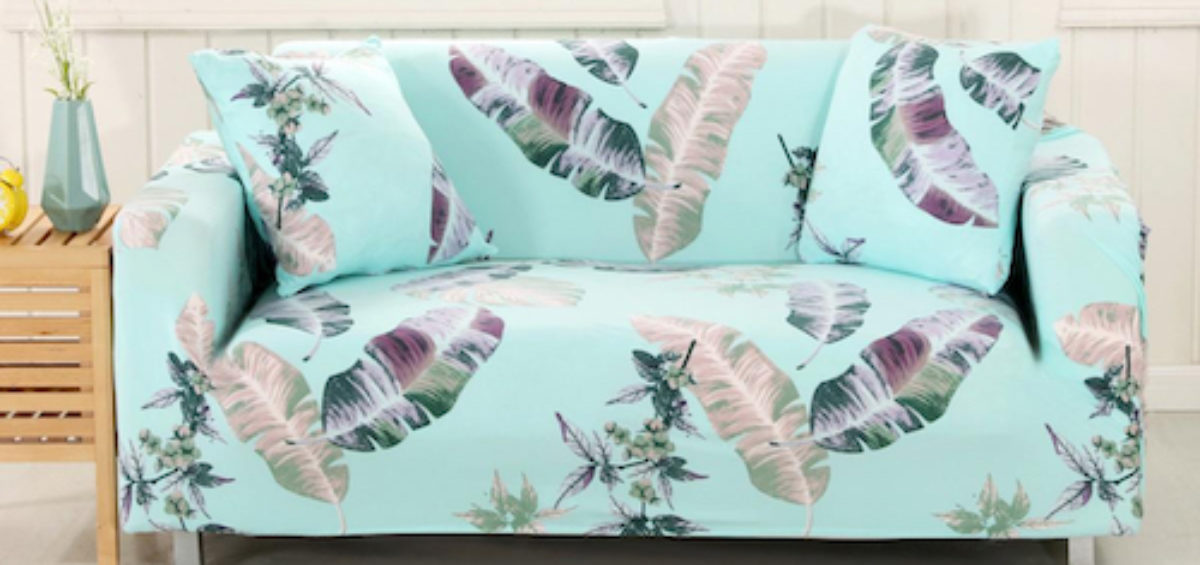 create a statement with a sofa covered in a designer printed fabric