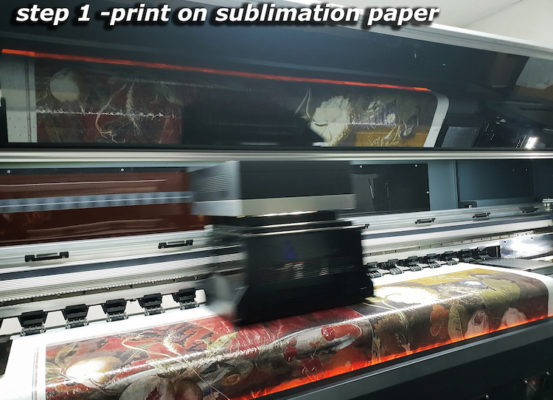 If you want a digital textile print on polyester fabrics, the dye sublimation printing method is the way to go.