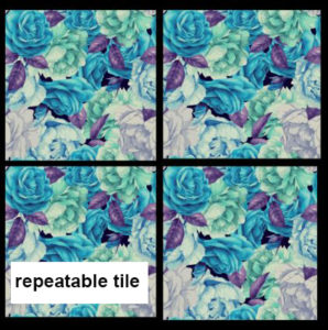The point where an identical design begins again on textile is called a repeat