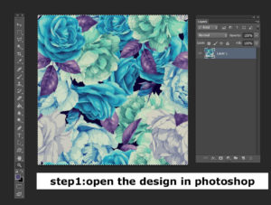 Open the design in Photoshop
