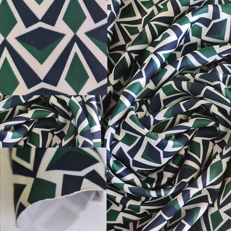 Polyester 96 spandex 4 polyester Scuba 350 gsm +/- 145cm Uses: Dresses, swimwear