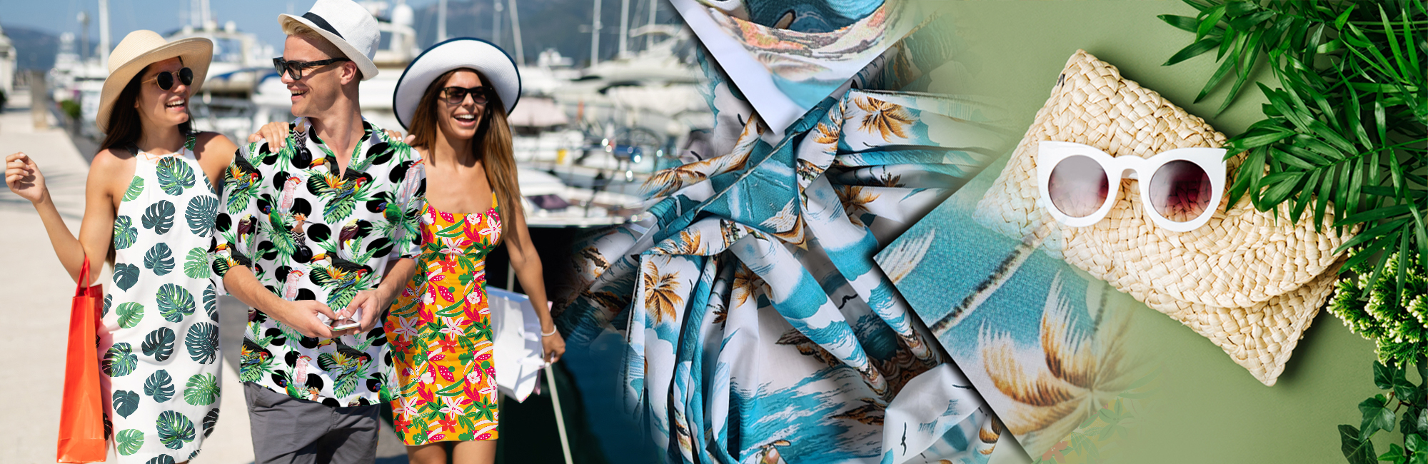 tropical trend in textile printing 2021