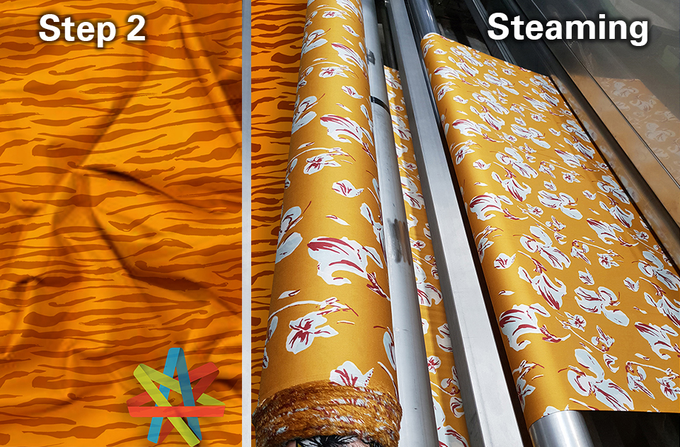 steaming is part of the fabric treatment process