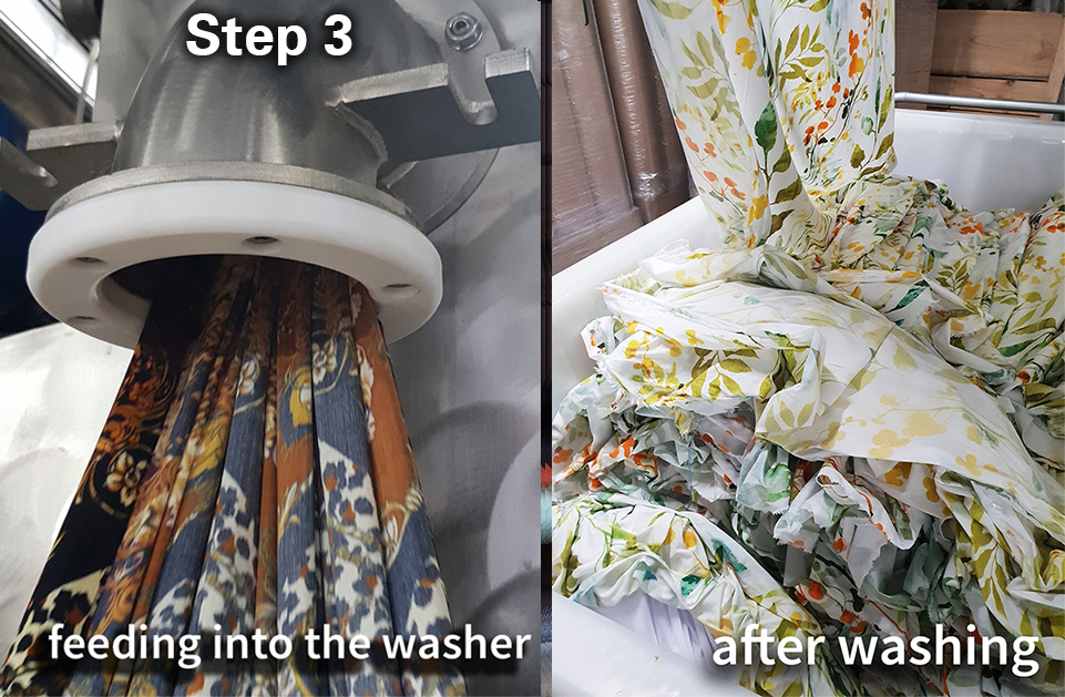 washing is part of the digital fabric printing process