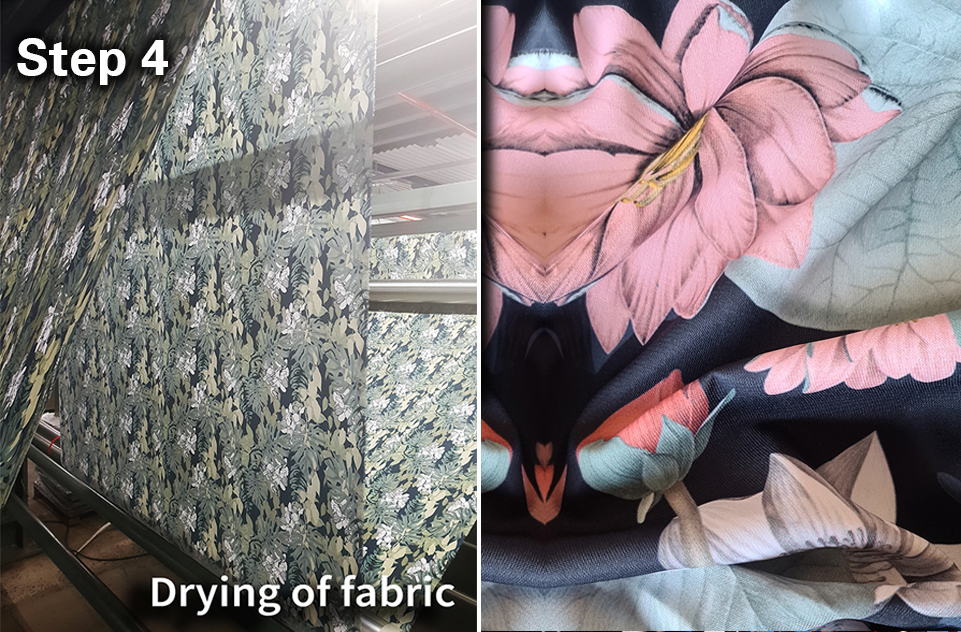 drying is part of the digital fabric printing process
