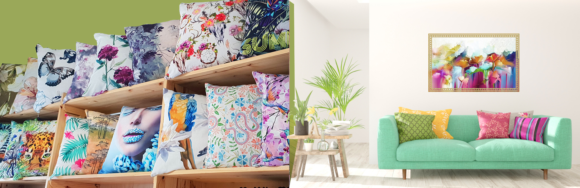 home decor digital fabric printing for scatter cushions