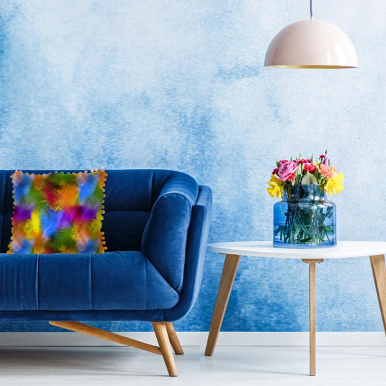 printed velvet fabric for home decor