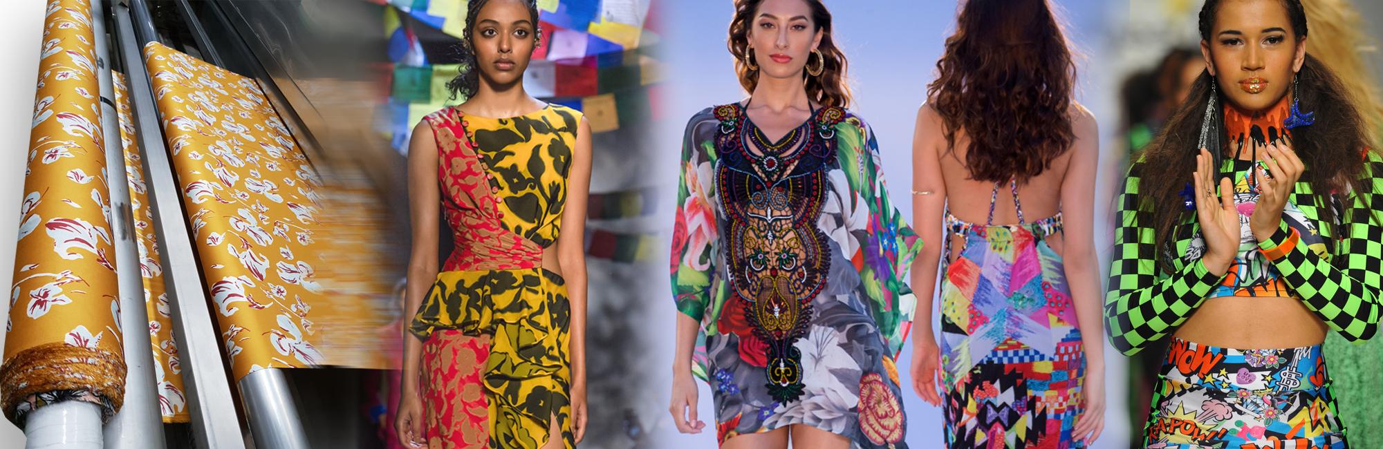 printed fabric for fashion