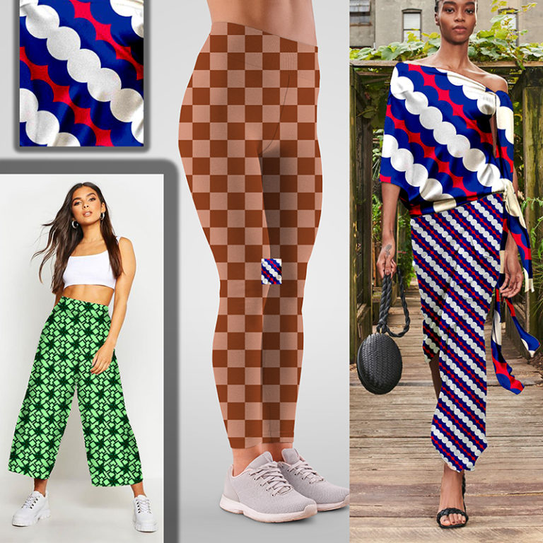 mixed patterns in a modern retro style