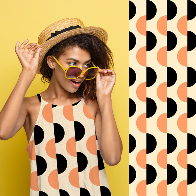 geometric shapes are a hallmark of the retro optimism trend for summer 2021