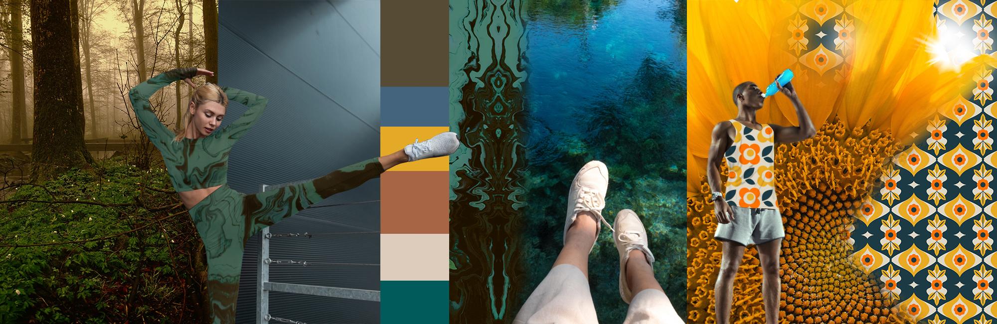 sportswear fabric earth tones